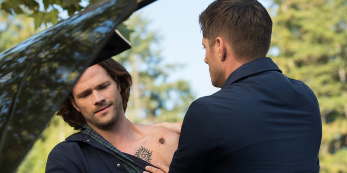 supernatural season 15 premiere sam injured dean impala