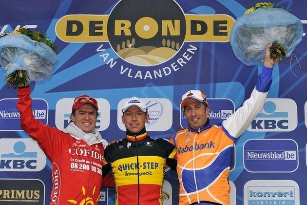 Tour of Flanders 2008 podium