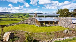 Stone-clad eco self build in Scotland