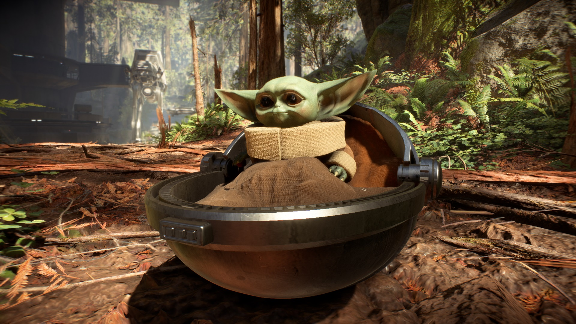 This Star Wars Battlefront 2 Mod Lets You Murder Stormtroopers As Baby Yoda Pc Gamer