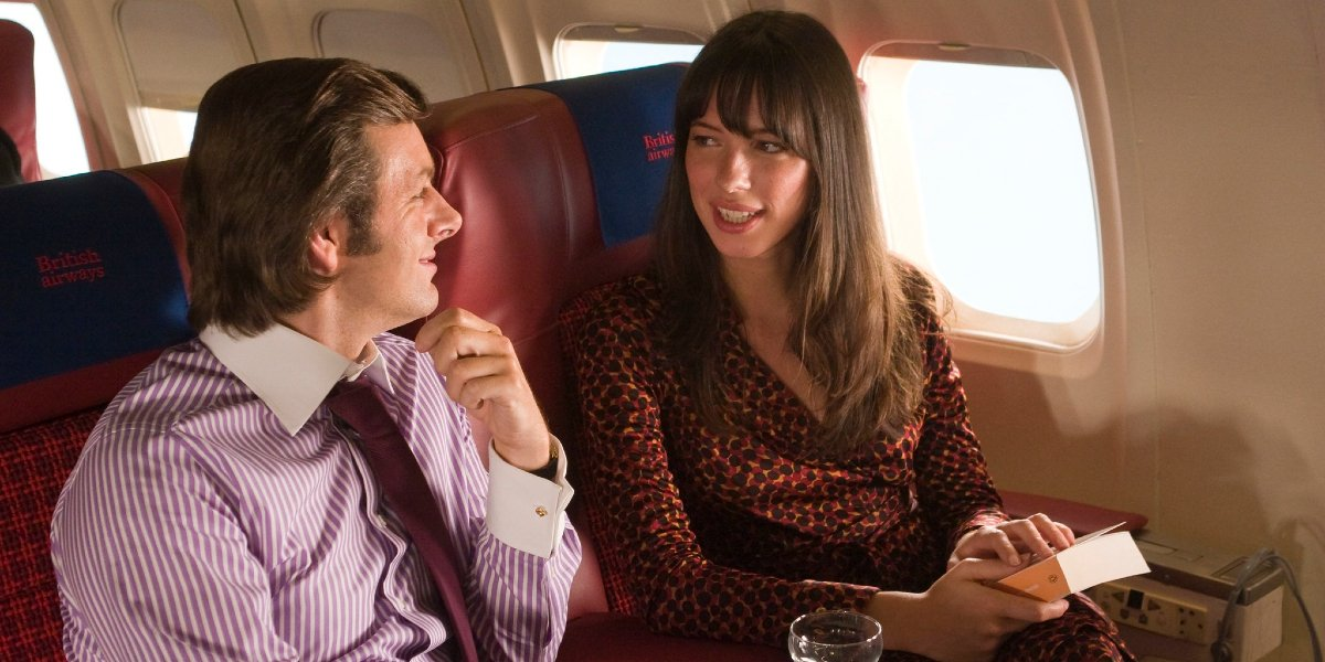 Michael Sheen and Rebecca Hall in Frost/Nixon