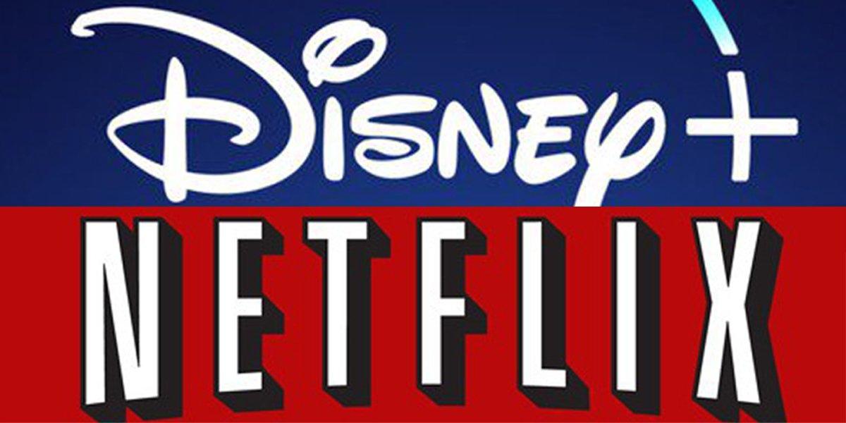 Disney+ and Netflix logos
