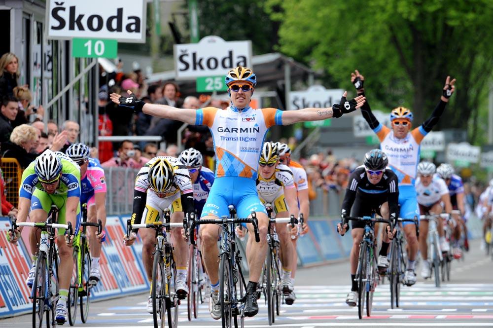 Tyler Farrar wins, Giro d'Italia 2010, stage 2