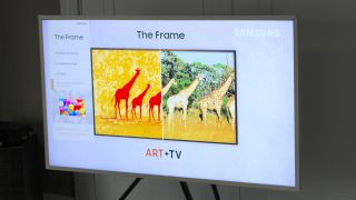 Samsung The Frame 2021 television with removable bezel