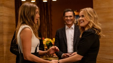 Jennifer Aniston, Billy Crudup, and Reese Witherspoon in 'The Morning Show'.