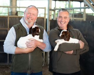 Brothers Rob and Dave Nicholson at Cannon Hall Farm.