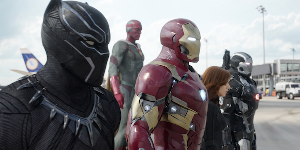 Team Iron Man in Captain America Civil War