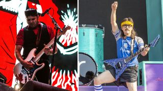 Ian D'Sa of Billy Talent and Rivers Cuomo of Weezer