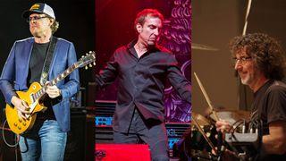 (L-R) Joe Bonamassa, Derek Sherinian and Simon Phillips
