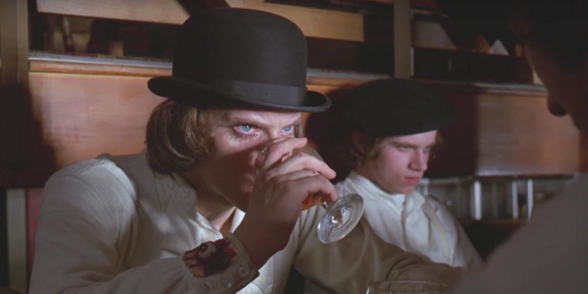 Malcom McDowell in A Clockwork Orange
