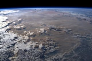 Italian astronaut Luca Parmitano shared this image of an ash cloud over Australia on Jan. 13, 2020.