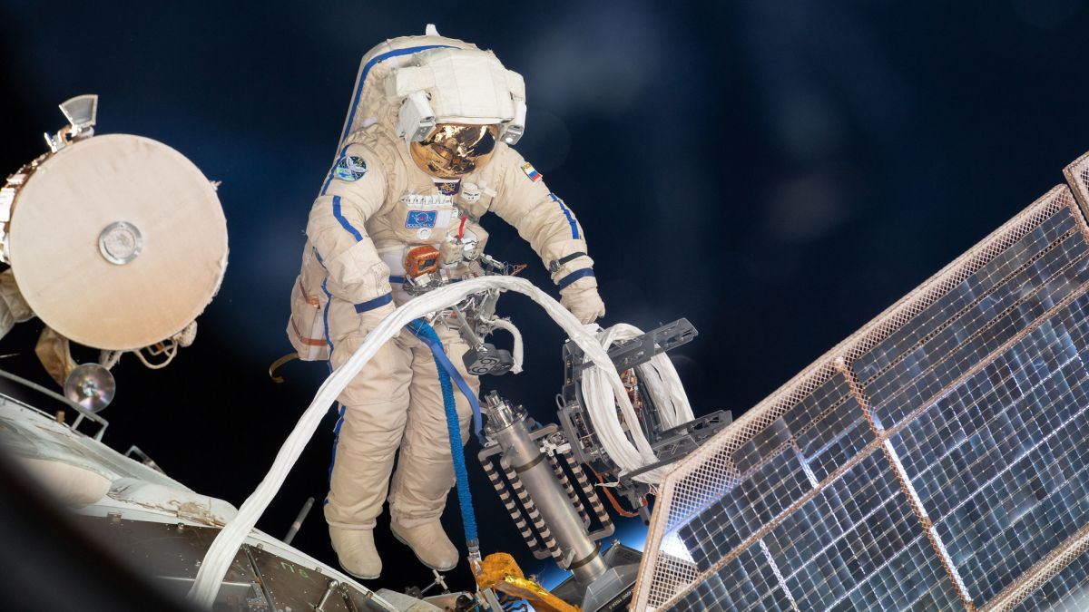 Two cosmonauts are taking a spacewalk outside the space station today. Here's how to watch.