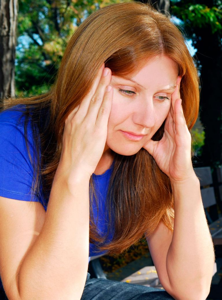 photo of stressed woman