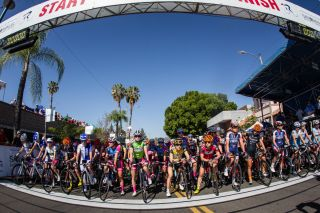 The women take to the line for the last stage in Redlands.