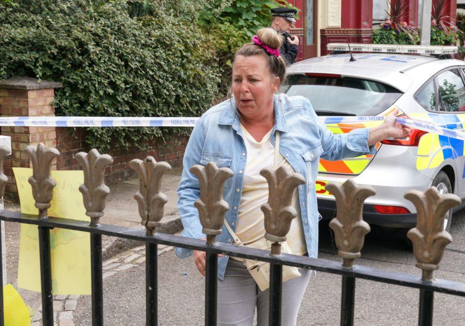 Karen realises something awful has happened in EastEnders