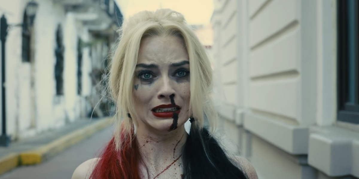 Harley Quinn bleeding in The Suicide Squad