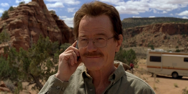walt white in desert breaking bad