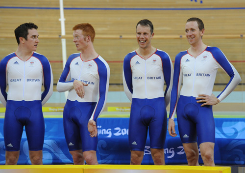 Team pursuit podium Olympcs 2008