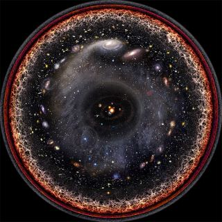 Pablo Carlos Budassi created a dazzling logarithmic visualization of the observable universe in 2013.