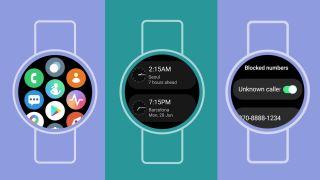 Samsung Galaxy Watch 4 One Watch UI