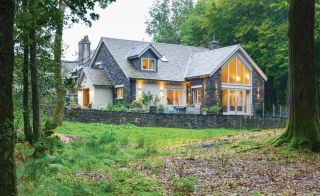 Timber frame traditional style self build in the Lake District