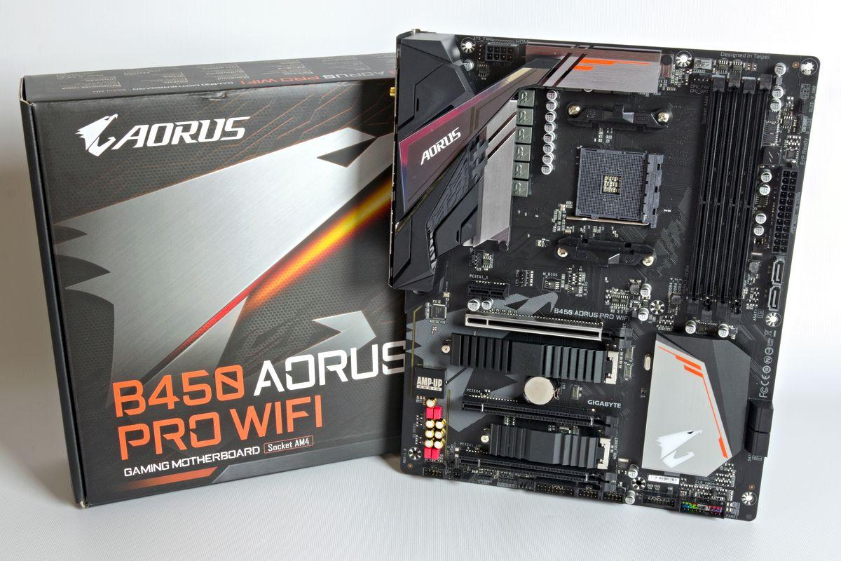 AMD Ryzen AM4//M.2 Thermal Guard with Onboard WIFI//HDMI//DVI//USB 3.1 Gen 2//DDR4//ATX//Motherboard GIGABYTE B450 AORUS PRO WIFI