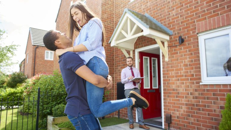 Home ownership: couple buying or selling their home