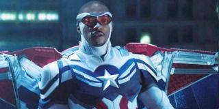 Anthony Mackie as Sam Wilson/Captain America in The Falcon and the Winter Soldier.