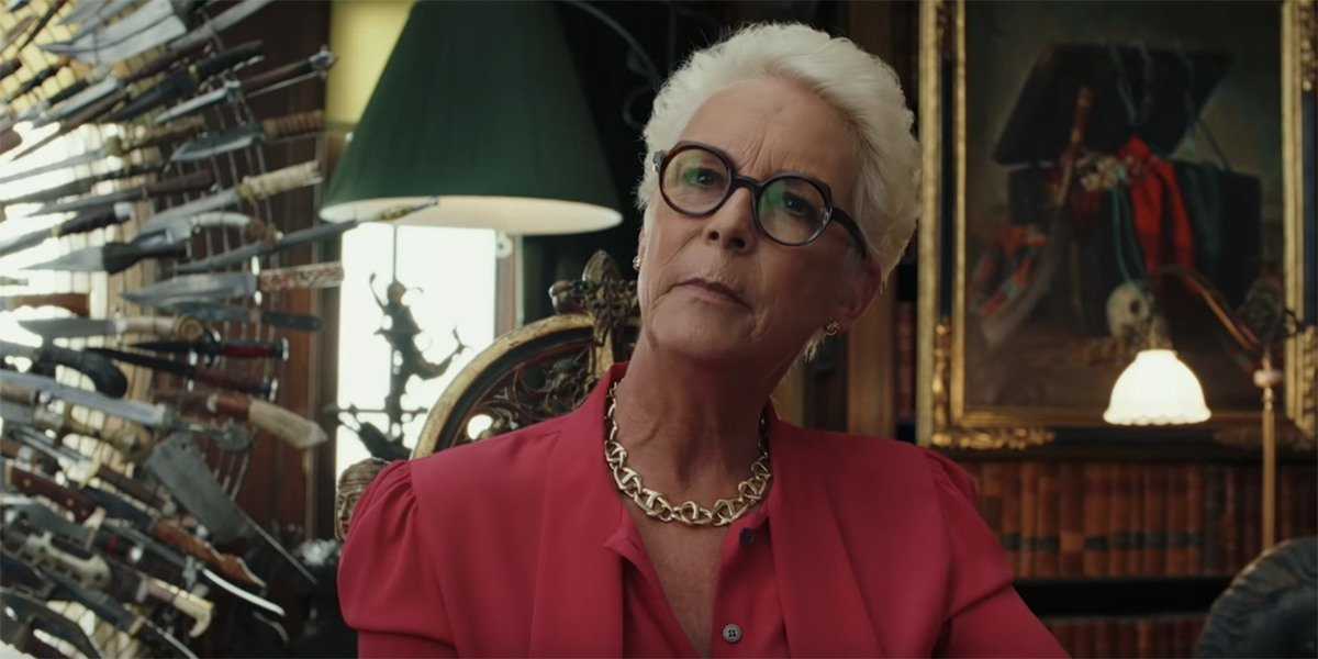 Jamie Lee Curtis in Knives Out.