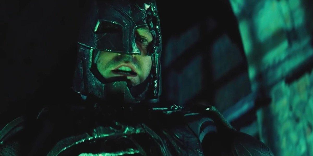 Batman screaming at Superman