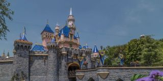 A view of Sleeping Beauty's castle in the distance at Anaheim's Disneyland.