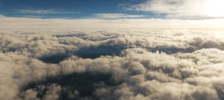 Volumetric clouds in DCS.