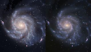 Pinwheel Galaxy Before and After Supernova 2011fe Exploded