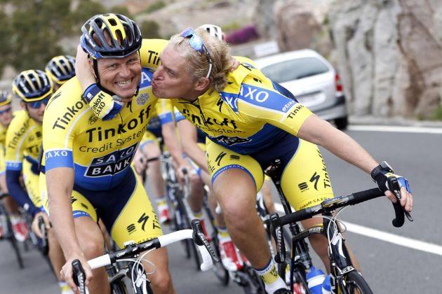 Oleg Tinkov and Bjarne Riis at Tinkoff-Saxo Bank Cycling Team 2014