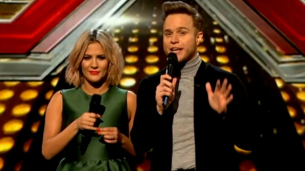 X Factor's Caroline Flack and Olly Murs