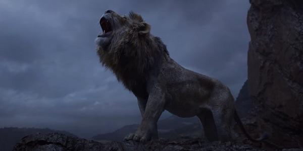 Simba roaring