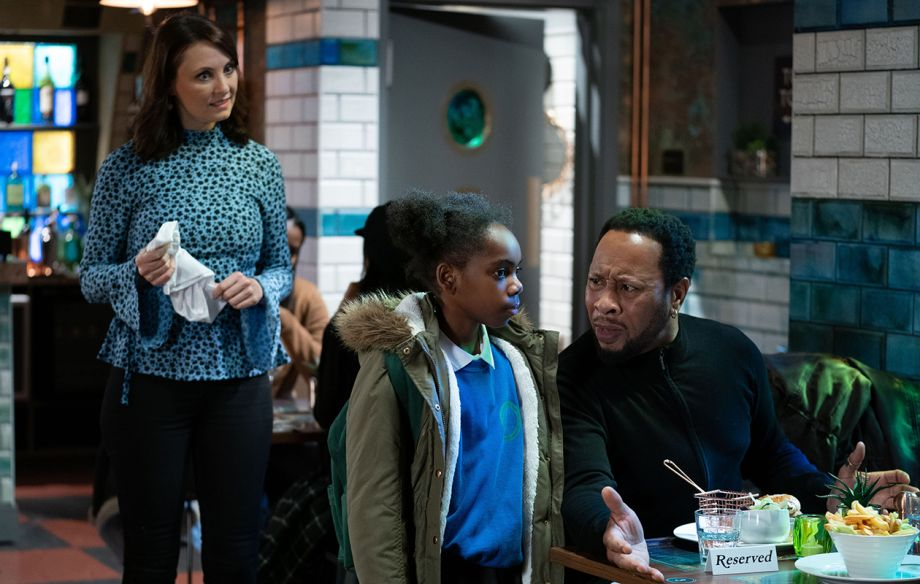 Honey Mitchell and Mitch Baker with Bailey Baker in EastEnders