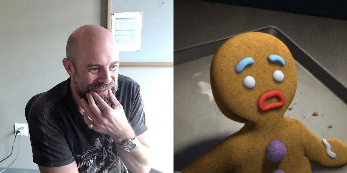 Conrad Vernon and Shrek's Gingerbread Man