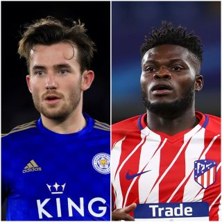 Ben Chilwell and Thomas Partey