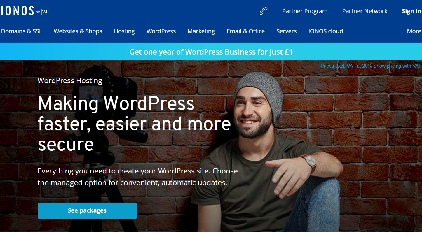 1&1 IONOS WordPress