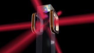 Artist's illustration of an atom chip for use by NASA's Cold Atom Laboratory (CAL), which will use lasers to cool atoms to ultracold temperatures. CAL is scheduled to launch to the space station in August 2017.