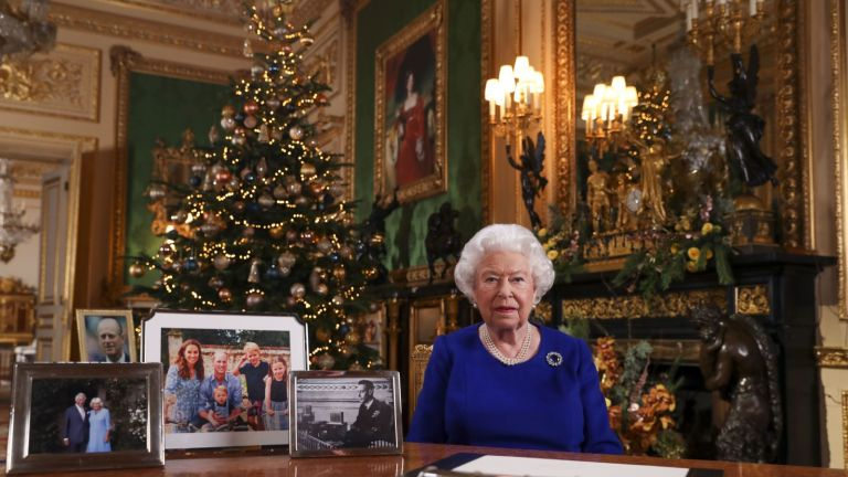 Royal Family Christmas Card 2020? Undated file photo of Queen Elizabeth II recording her annual Christmas broadcast last year in Windsor Castle, Berkshire.