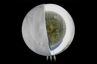 Illustration of Saturn Moon Enceladus' Interior