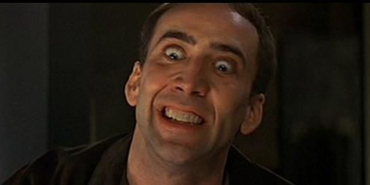 Nic Cage in Face/Off