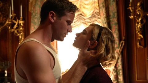 Armie Hammer and Lily James in Rebecca