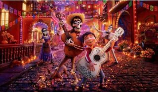 Coco Miguel and Hector jam out in the streets