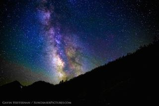 Milky Way over Kings Canyon
