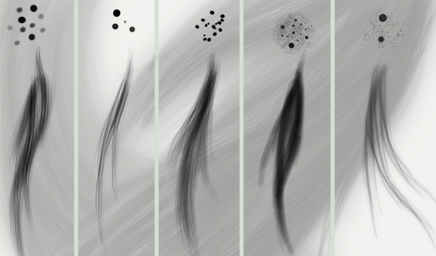 Photoshop brushes: Hair brush set