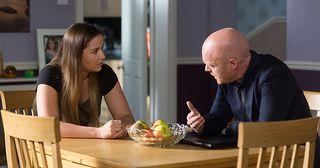 Lauren tells Max that she's leaving Steven. Lauren Branning, Max Branning in Eastenders.