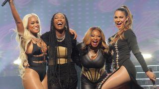 From left: Eve, Brandy, Naturi Naughton and Nadine Velzaquez in ABC's 'Queens'